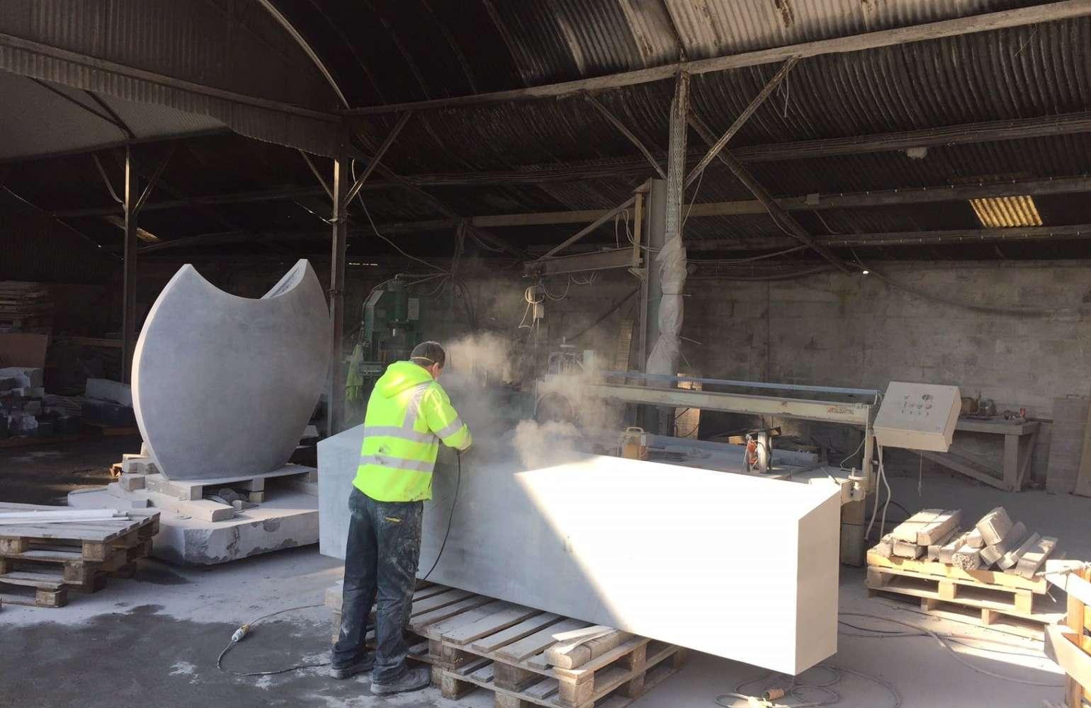 McKeon Stone Makes Solid Limestone Seats for Facebook in Clonee