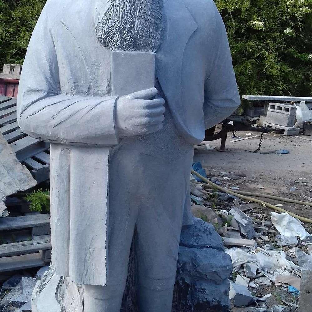 Michael Cusack Sculpture Three Castles Blue Limestone Unveiling Cusack Park Ennis