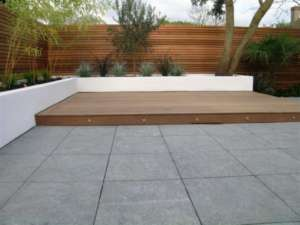 01 Flamed Paving Patio in Wimbledon by Harlequin Landsapes, David Barnes