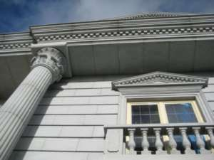 01 Fluted Limestone colums with Carved Capital