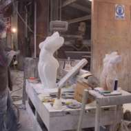 01 Working on Carrara marble
