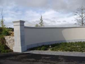 10 Limestone Piers and wall capping