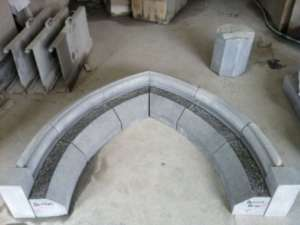 19 Detailed limestone Arch being made