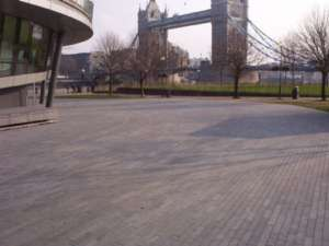 25 Flamed Paving, London