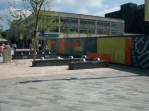 29 Dark Honed Limestone Seats, Sheffield