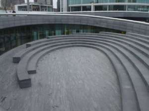 30 The Scoop, circular seating area