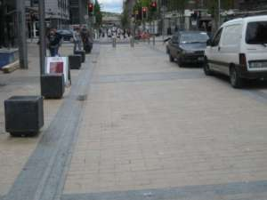 33 Square Bollards, Curved Edges, Bedford row, Limerick