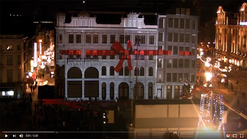 3D projection mapping in the city centre of Amsterdam for H&M