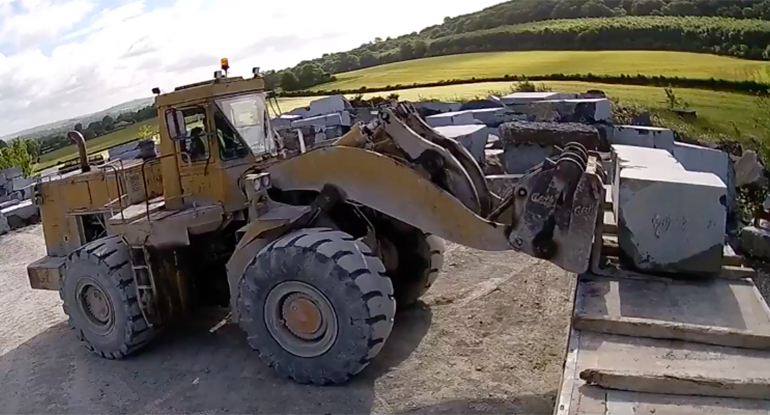 Loading Stone in McKeon Stone Limestone Quarry