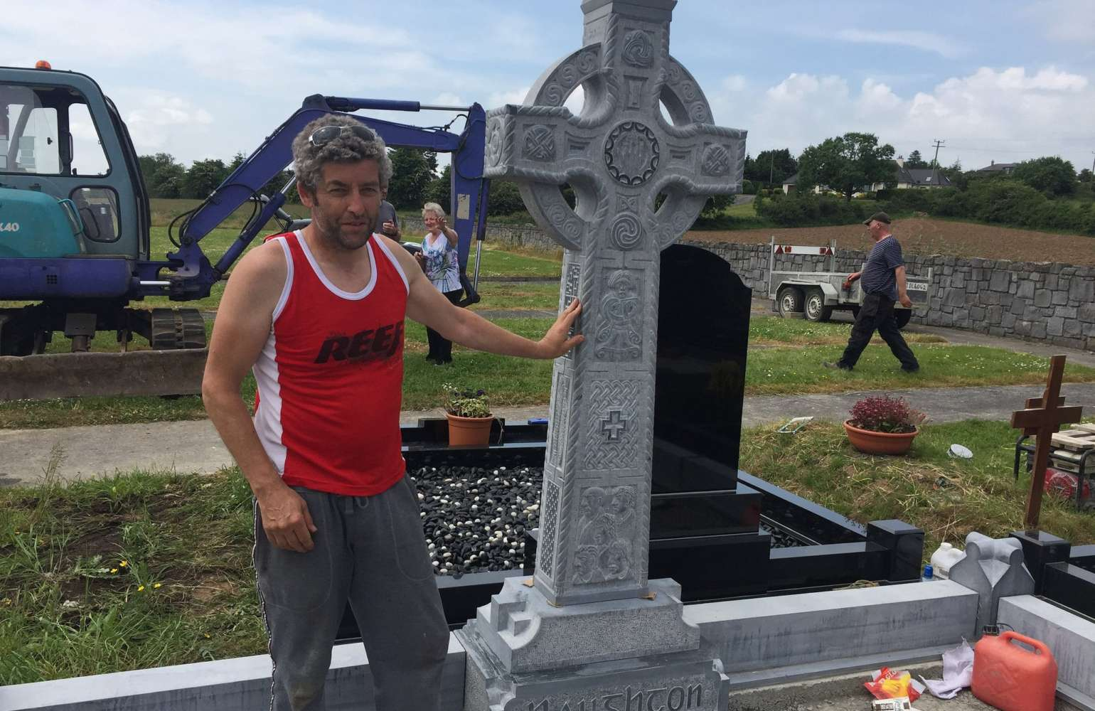 Brendan Mc Gloin, Sculptor – Celtic Cross in Kilkenny Limestone