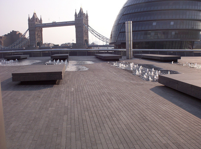 London, Irish Blue Limestone